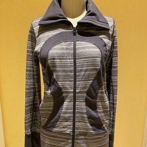Lululemon Grey and White Striped Jacket
